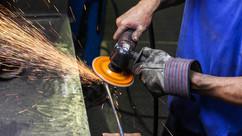 Artist making handle