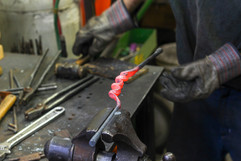 Close up of artisian handles