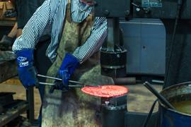 Heavy machinery to create cookware
