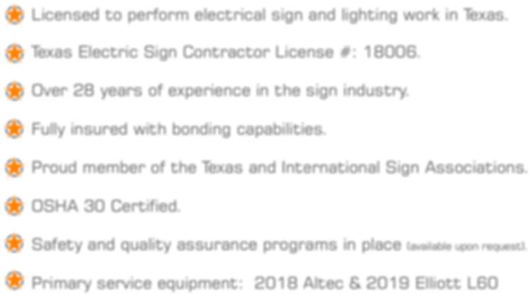 Republic Sign Qualifications