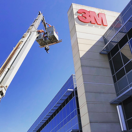 3M Channel Letter Installation