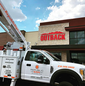Outback Channel Letter Install - San Antonio, TX