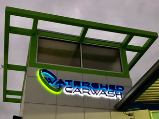 Watersehd Carwash Channel Letter Install