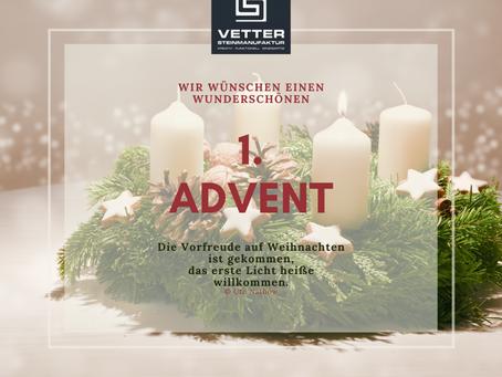 Wir wünschen einen 1. schönen Advent