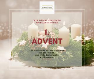 Wir wünschen einen schönen 1. Advent