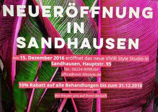 Neueröffnung in Sandhausen am 15.12.2016
