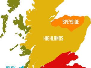 כיצד מחולקים איזורי הויסקי בסקוטלנד?