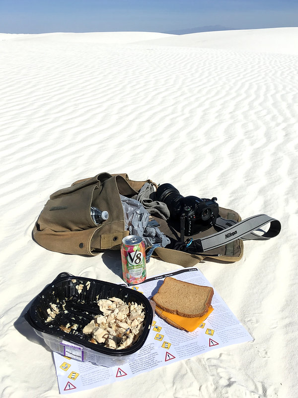 white sands Backcountry Camping