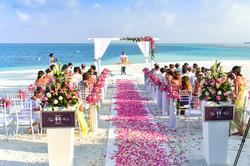 Wedding aisle, island