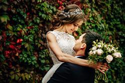Outdoor wedding in a garden