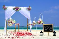 Wedding aisle island