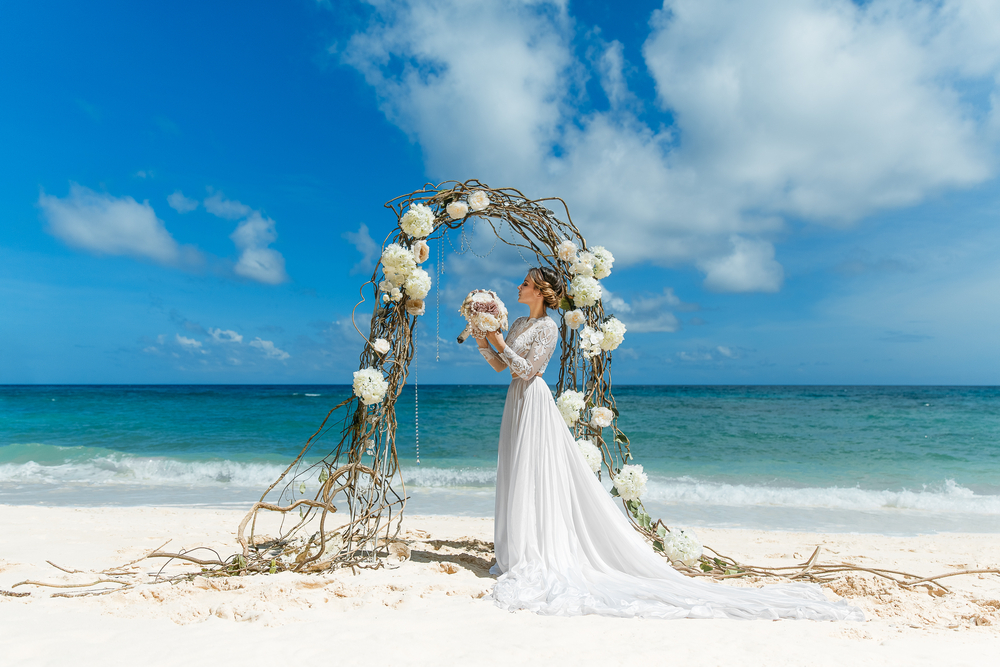 Destination wedding, sea