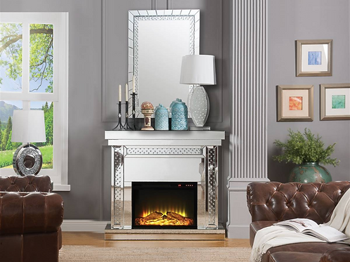 Crystal Mirrored Fireplace