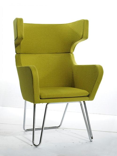 Modrest Anser Modern Green Fabric Lounge Chair