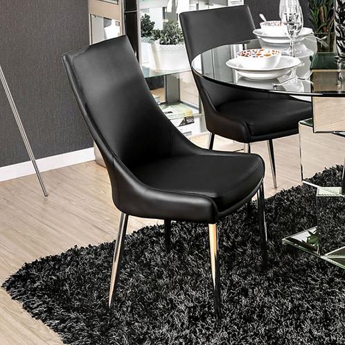 Izzy 5pc. Dining Set w/ Black Chairs