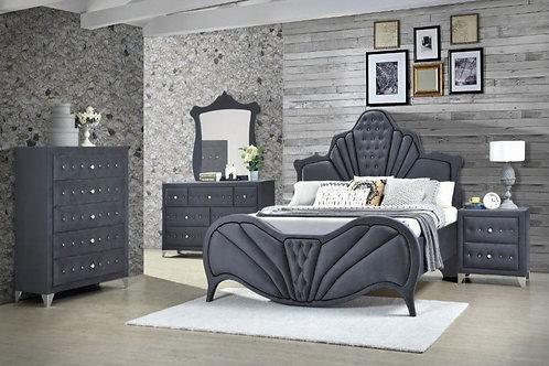 Dante Bedroom Set in Grey
