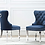 Thumbnail: Button Tufted Velvet Side Chair Chrome Rings