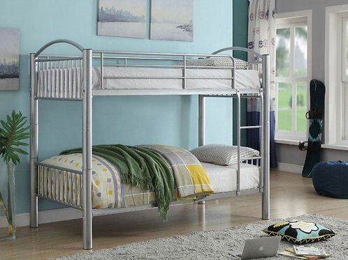 Cayelynn Twin/Twin Bunk Bed in Silver