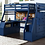 Thumbnail: Blue storage loft bed