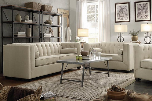 Carins sofa and Loveseat in oatmeal