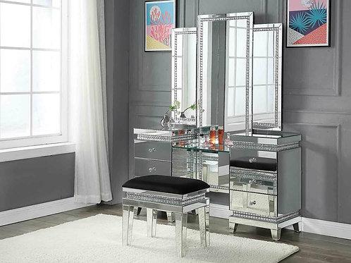 Crystal Mirrorred Vanity w/ Stool