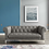 Thumbnail: Idyll Tufted Button Upholstered Leather Chesterfield Loveseat in Gray
