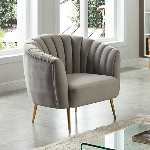 Dionne Accent Chair in Gray