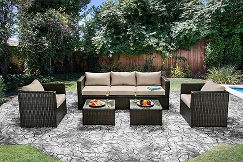 Olina | Patio Set in Beige