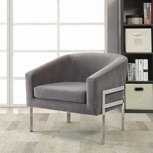Grey and Chrome Accent Chair