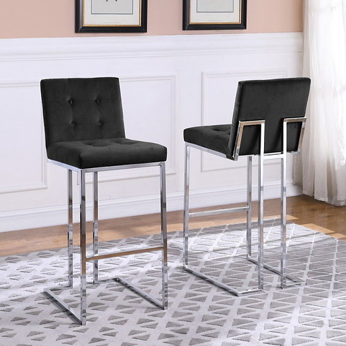 Black and Chrome Barstool