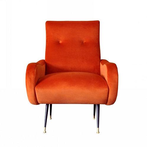Divani Casa Saline - Modern Orange Fabric Accent Chair