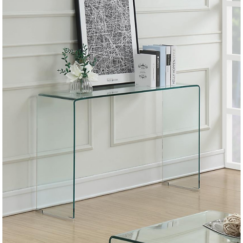 Clear Accent Sofa Table