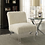 Thumbnail: White Accent Chair with Acrylic Legs