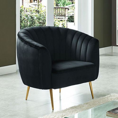 Dionne Accent Chair in Black