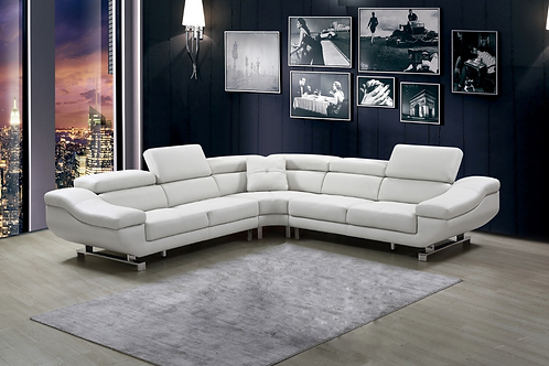 4pc Top Grain Full Leather Sectional