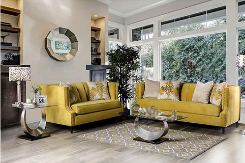 Yellow sofa and Love seat