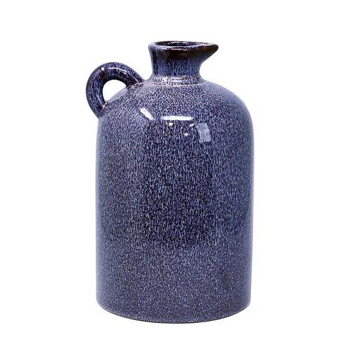 "Ceramic 10""H Pitcher, Burgundy"