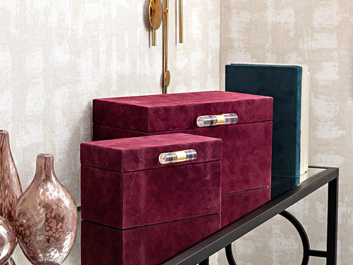 SG Suede Boxes - Set of 2