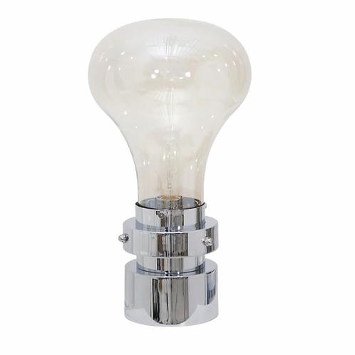 Set of 2 LIGHT BULB TABLE LAMP, SILVER
