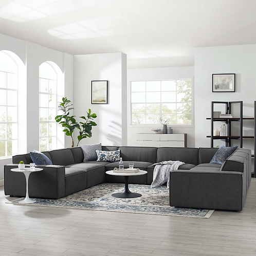 Restore 8-Piece Sectional Sofa in Charcoal