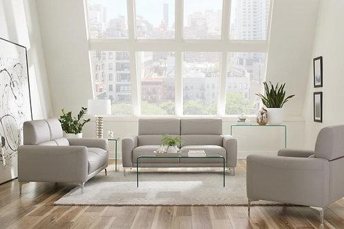 Taupe Leatherette livingroom set