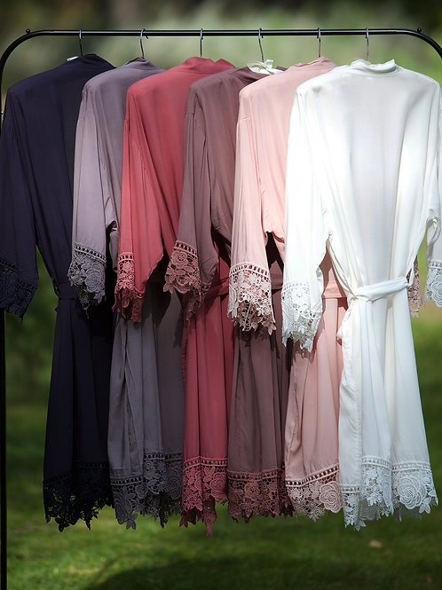 Cotton Lace Robe