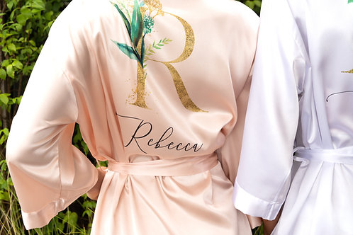 Solid Satin robe