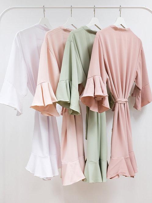 Ruffle Chiffon Robe