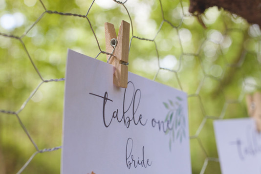 woodland wedding copper luxe table plan