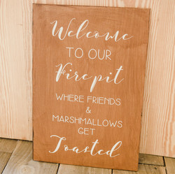 Welcome to Our Firepit Signage