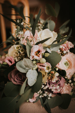 bridal party flowers blush pink