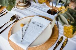 millie stone stationery wedding menu