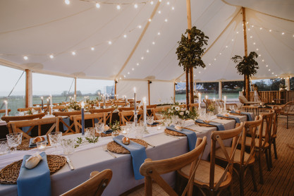 blue wedding ideas rustic theme
