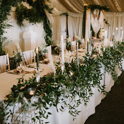 RUSTIC WEDDING TOP TABLE